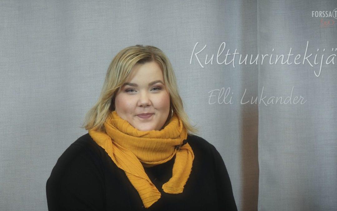 Kulttuurintekijät – Elli Lukander