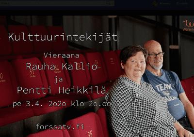 Kulttuurintekijät: Rauha Kallio ja Pentti Heikkilä
