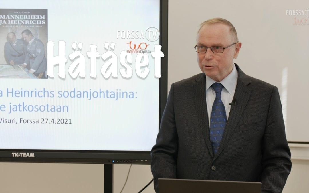 Hätäset luento – Veteraanipäivän sotahistoria, Pekka Visuri